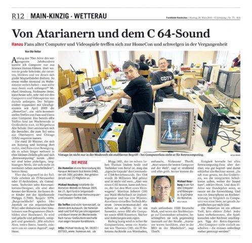 Frankfurter Rundschau vom 28.03.2011