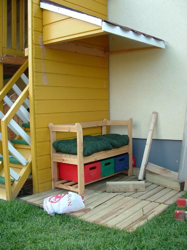 schleppdach mit terrasse
