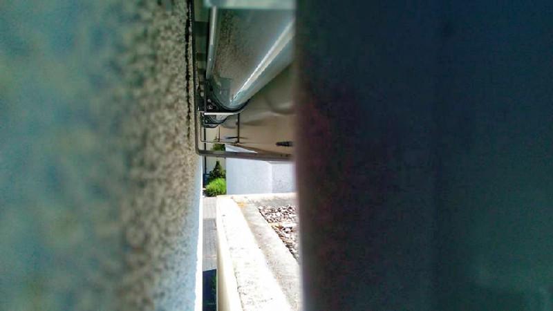 regenrinne hinter attika