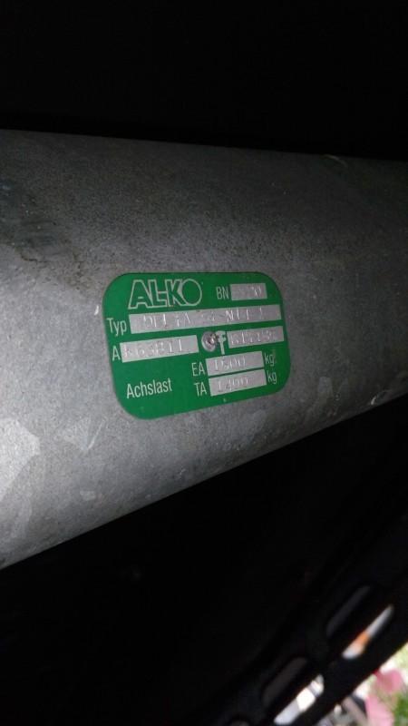 wohnwagen achse alko typenschild