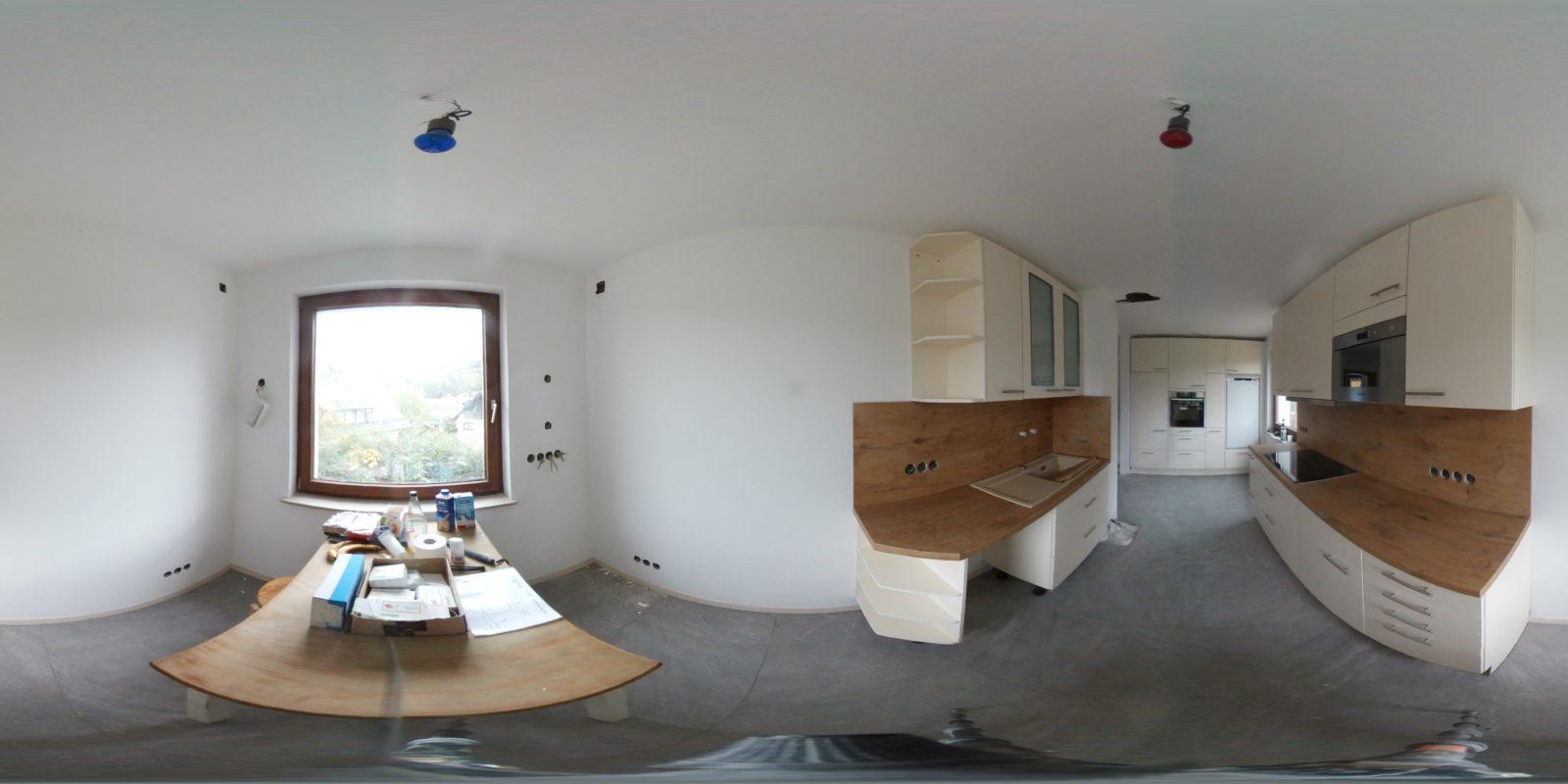 Küche fertig aufgebaut