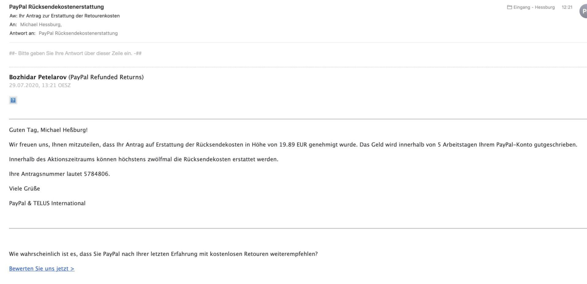 Email Erstattung Rücksendekosten scaled 1