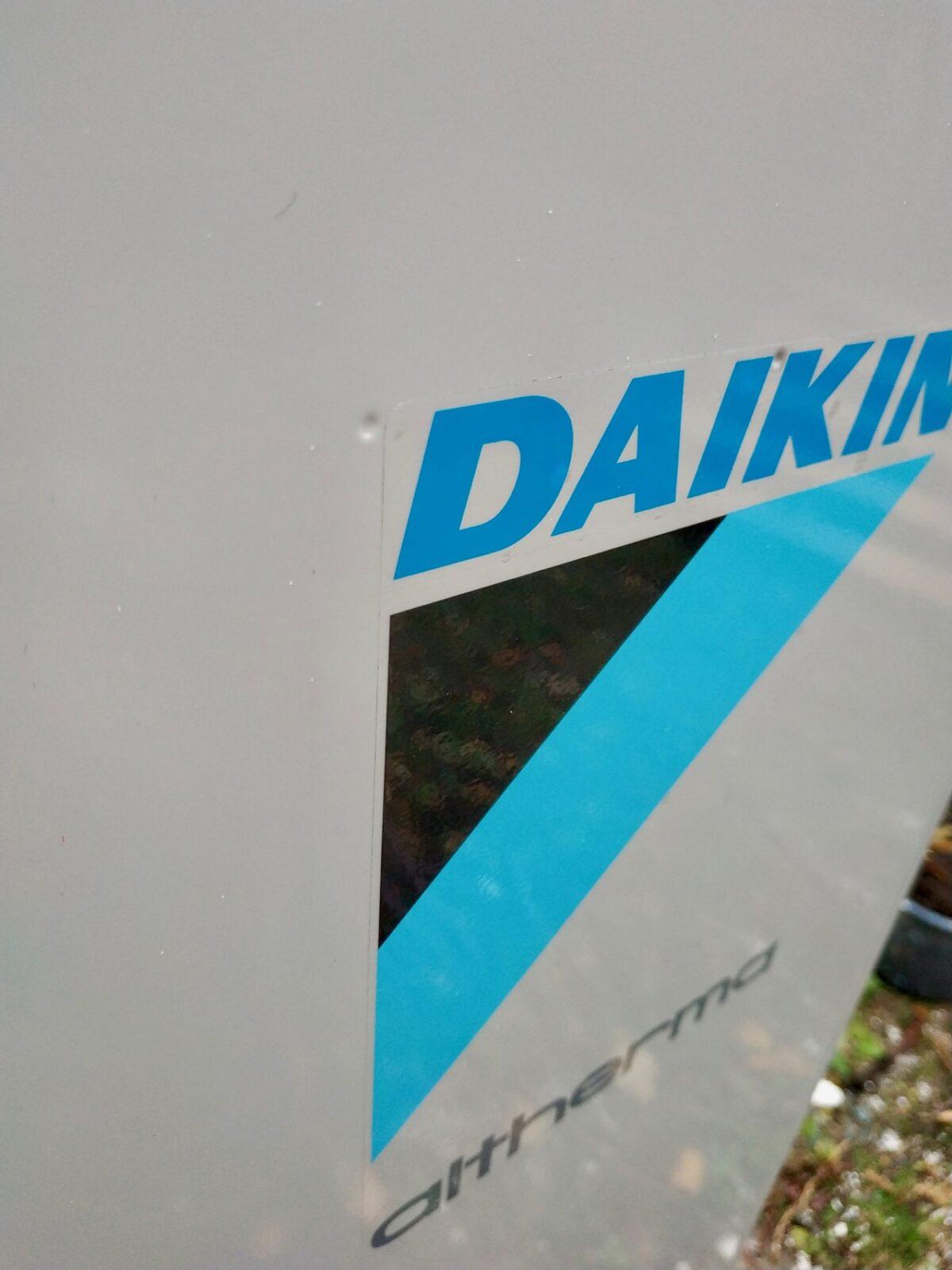 daikin aufkleber label