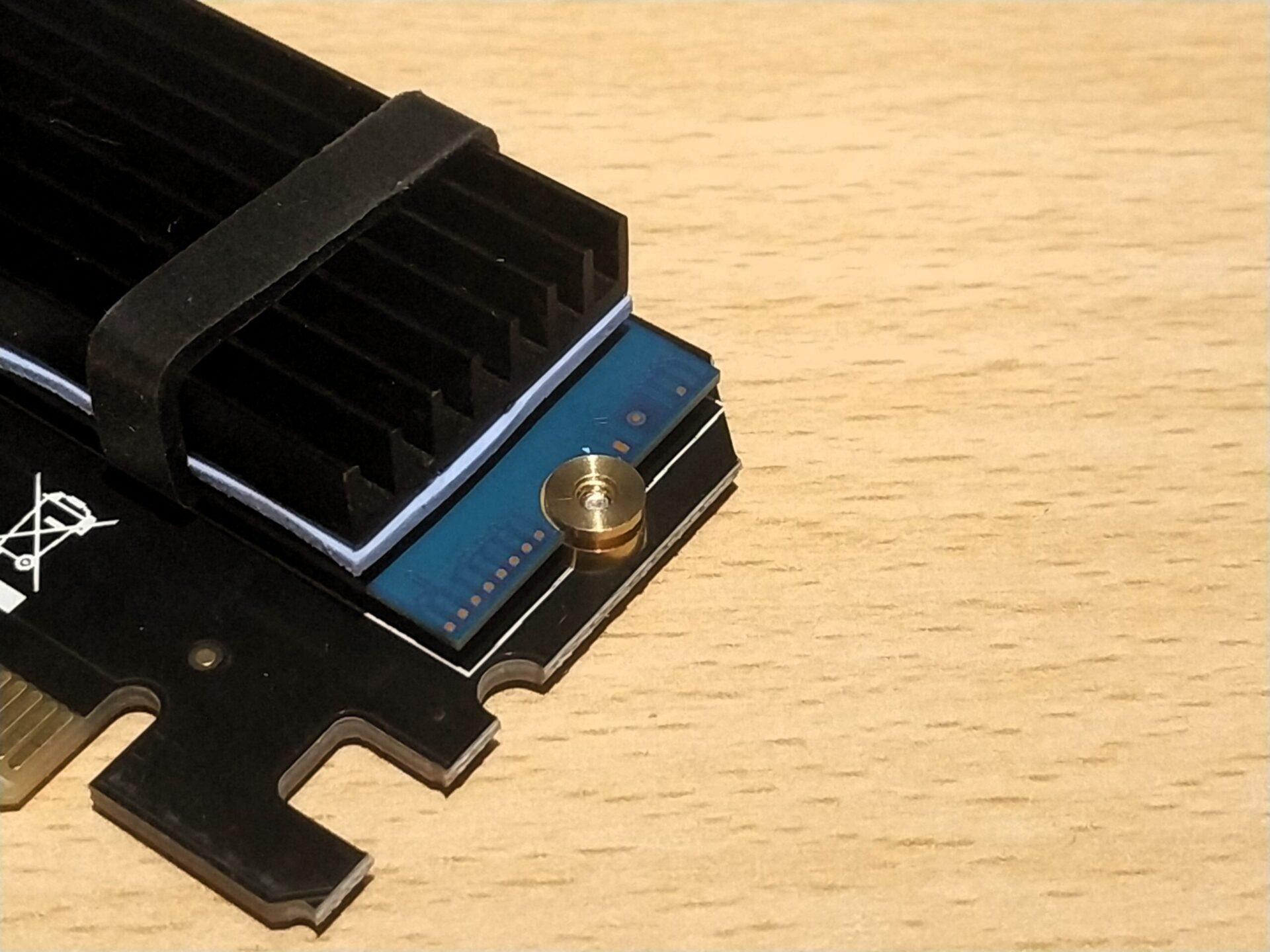 m.2 SSD auf Adapter