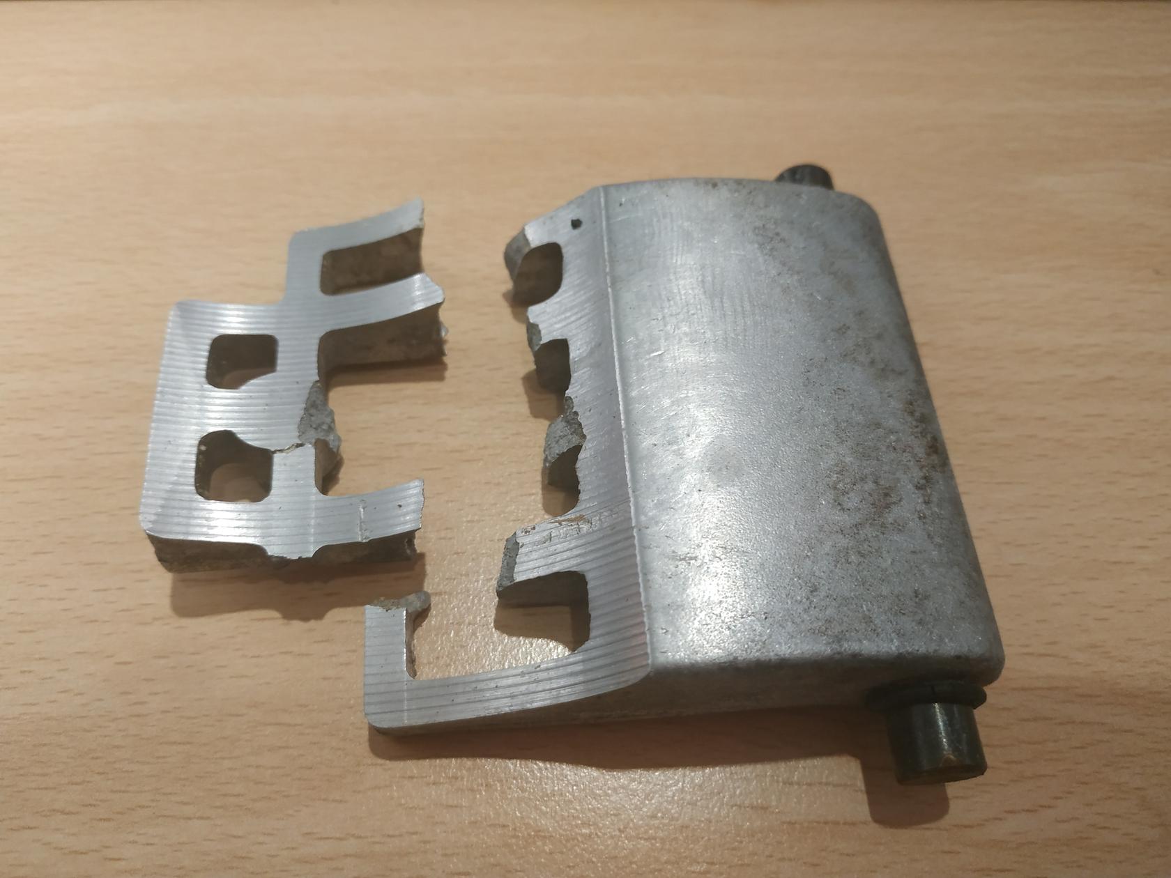 andruckplatte gebrochen